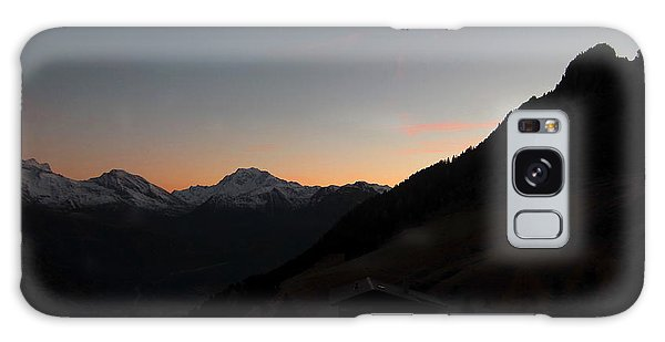 Sunset Afterglow In The Mountains Galaxy Case