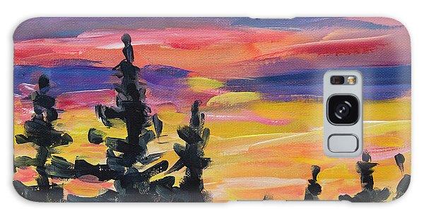Galaxy Case featuring the painting Sunset Alaska by Yulia Kazansky