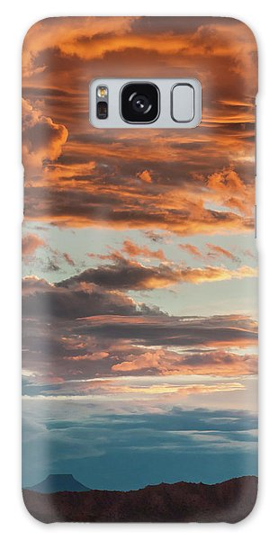 Sunset And Cerro Pedernal Galaxy Case