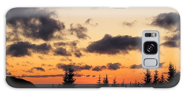 Sunset And Dark Clouds Galaxy Case by Barbara Griffin