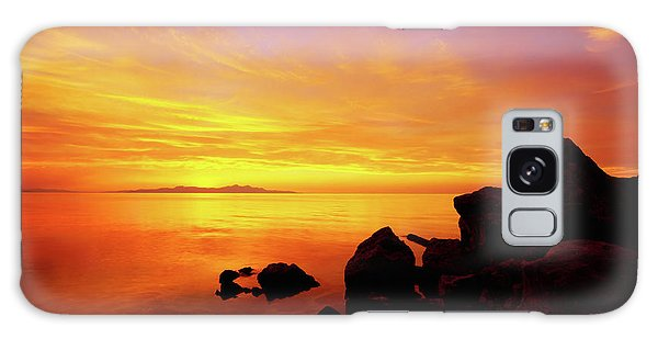 Outdoor Galaxy Case - Sunset And Fire by Chad Dutson