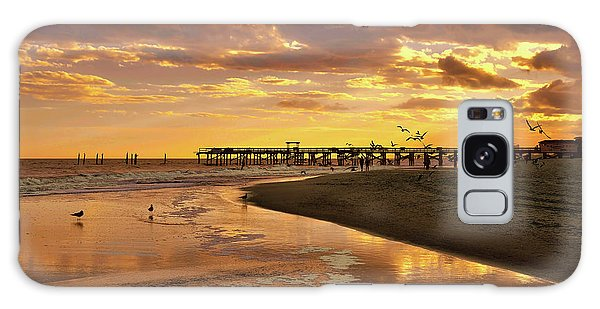 Sunset And Gulls Galaxy Case by Kathy Baccari