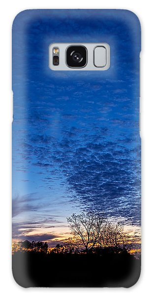 Sunset And Moon Sliver Galaxy Case