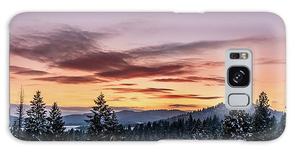 Sunset And Mountains Galaxy Case