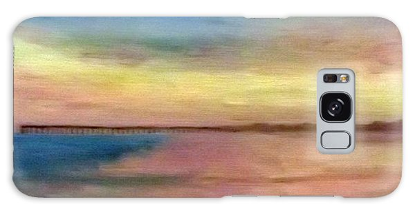Sunset And Pier Galaxy Case