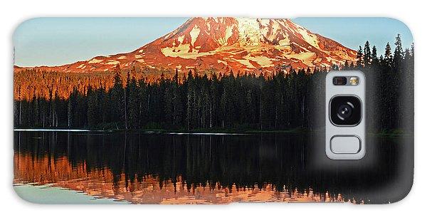 Sunset And Sunrise Mt Adams Galaxy Case
