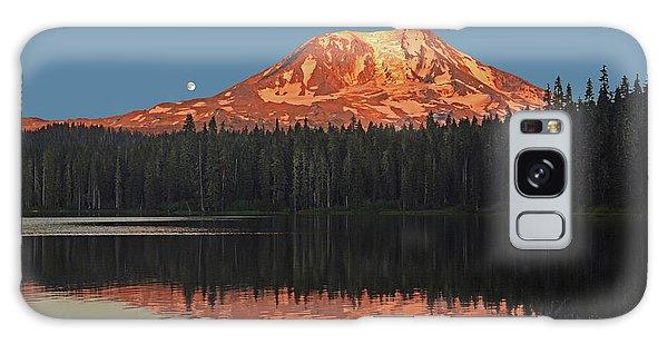 Sunset And Moonrise At Takhlakh Lake Galaxy Case