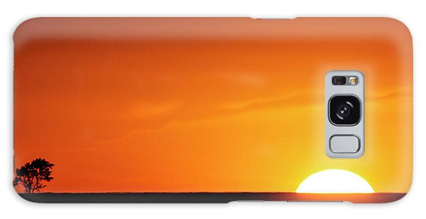 Sunset And Tree -01 Galaxy Case