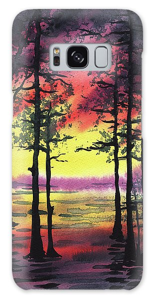 Outdoor Dining Galaxy Case - Sunset And Trees by Irina Sztukowski