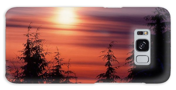 Sunset And Trees Two  Galaxy Case