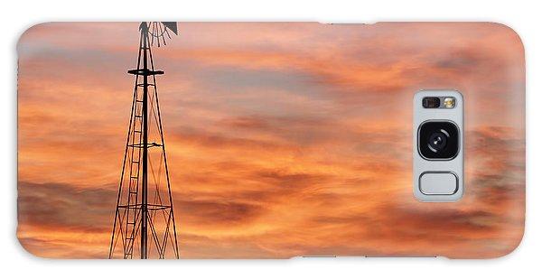 Sunset And Windmill 04 Galaxy Case
