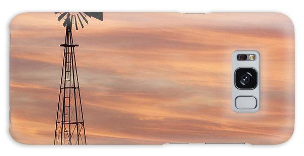 Sunset And Windmill 05 Galaxy Case