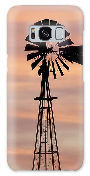 Sunset And Windmill 06 Galaxy Case
