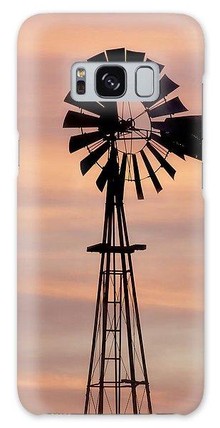 Sunset And Windmill 06 Galaxy Case