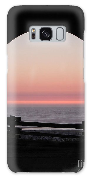 Sunset Arch With Fog Bank Galaxy Case