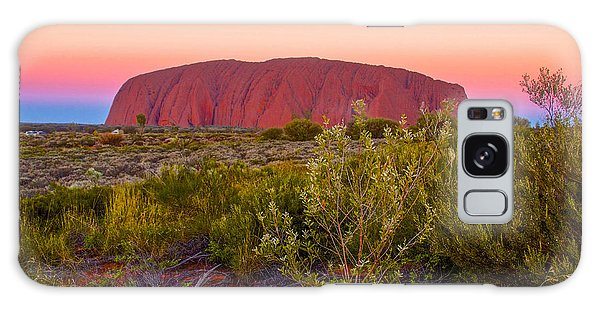 Sunset At Ayers Rock Galaxy Case