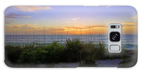 Sunset At Barefoot Beach Preserve In Naples, Fl Galaxy Case
