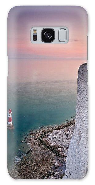 Sunset At Beachy Head Galaxy Case