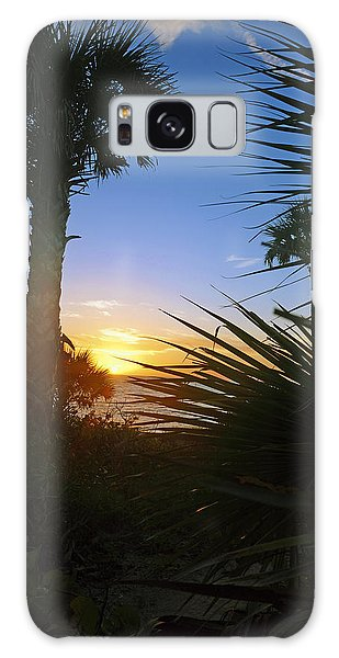 Sunset At Bearefoot Beach In Naples Galaxy Case