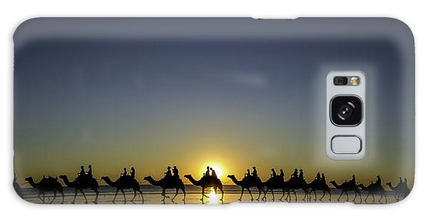 Sunset At Cable Beach Galaxy Case
