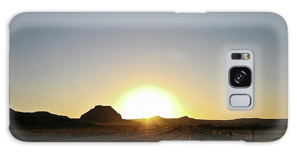 Sunset At Castle Butte Sk Galaxy Case