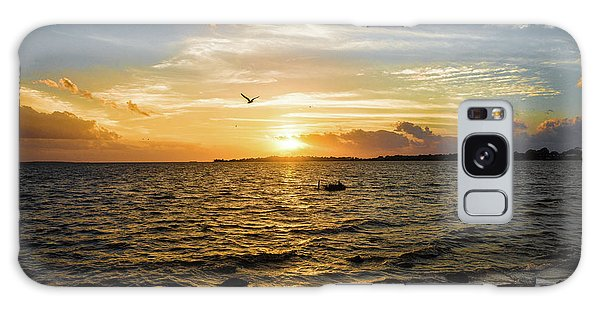 Sunset At Cedar Key Galaxy Case by Rebecca Hiatt