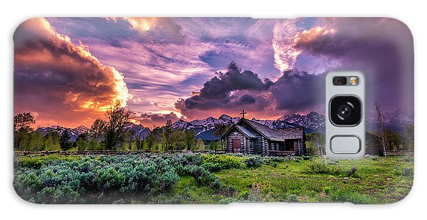 Sunset At Chapel Of Tranquility Galaxy Case
