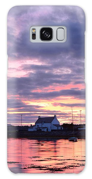 Sunset At Clachnaharry Galaxy Case