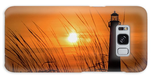 Sunset At Cm Lighthouse Galaxy Case