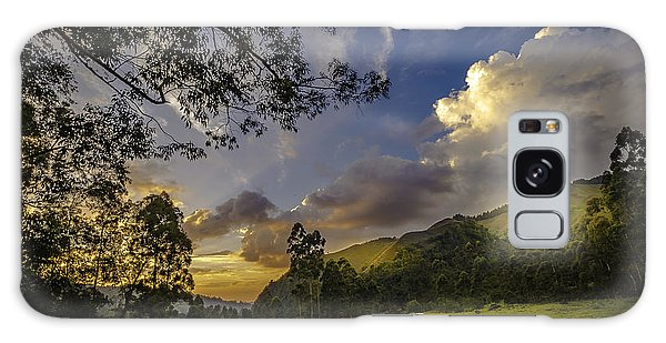 Sunset At Cocora Galaxy Case