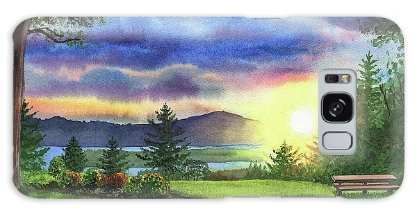 Outdoor Dining Galaxy Case - Sunset At Columbia River State Of Washington by Irina Sztukowski