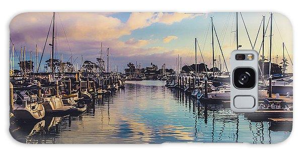Sunset At Dana Point Harbor Galaxy Case