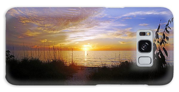 Sunset At Delnor Wiggins Pass State Park In Naples, Fl Galaxy Case