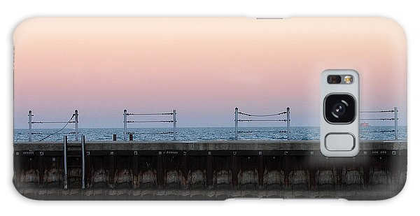 Sunset At Diversey Harbor Galaxy Case