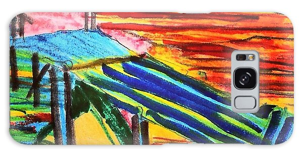 Galaxy Case - Sunset At Dock by Love Art Wonders By God