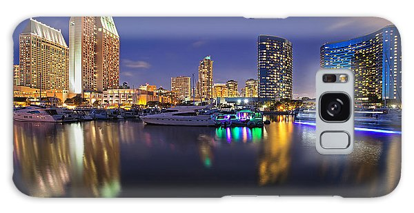 Sunset At Embarcadero Marina Park In San Diego Galaxy Case