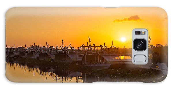 Sunset At Everglades Holiday Park Galaxy Case