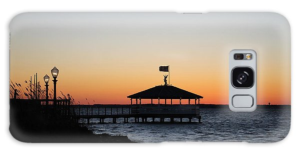 Sunset At Fagers Island Gazebo Galaxy Case