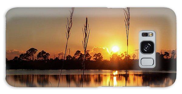 Sunset At Gator Hole 3 Galaxy Case