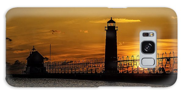 Catwalk Galaxy S8 Case - Sunset At Grand Haven Pier by Nick Zelinsky