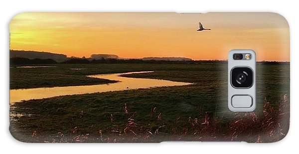 Sunset At Holkham Today  #landscape Galaxy Case by John Edwards