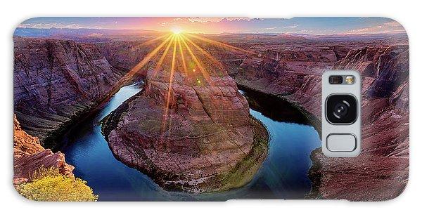 Sunset At Horseshoe Bend Galaxy Case