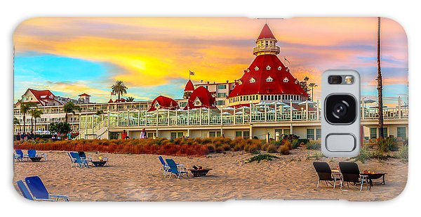 Sunset At Hotel Del Coronado Galaxy Case