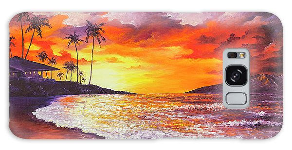 Galaxy Case featuring the painting Sunset At Kapalua Bay by Darice Machel McGuire