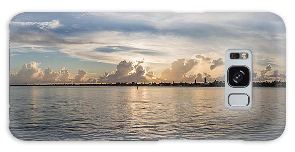 Sunset At Key Largo Galaxy Case by Christopher L Thomley