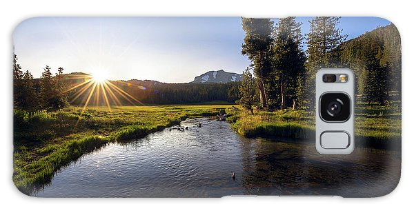 Sunset At Kings Creek In Lassen Volcanic National Galaxy Case