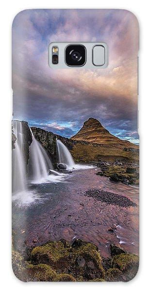 Sunset At Kirkjufellsfoss Galaxy Case by Roman Kurywczak