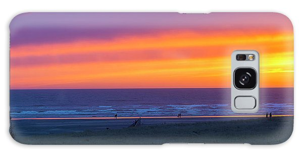 Galaxy Case - Sunset At Long Beach Washington by David Gn