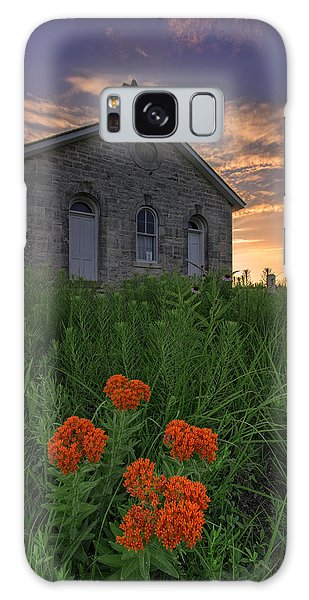 Sunset At Lower Fox Creek Schoolhouse Galaxy Case