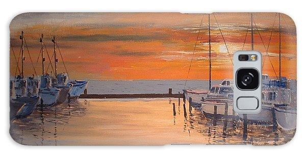 Sunset At Marina Galaxy Case